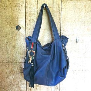 Navy Blue Hobo Bag